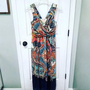 Anthropologie Maeve Vizcaya Maxi Dress 2p